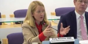Katy Bourne Sussex Police & Crime Commissioner at the Police & Crime Panel on 31st January 2020.