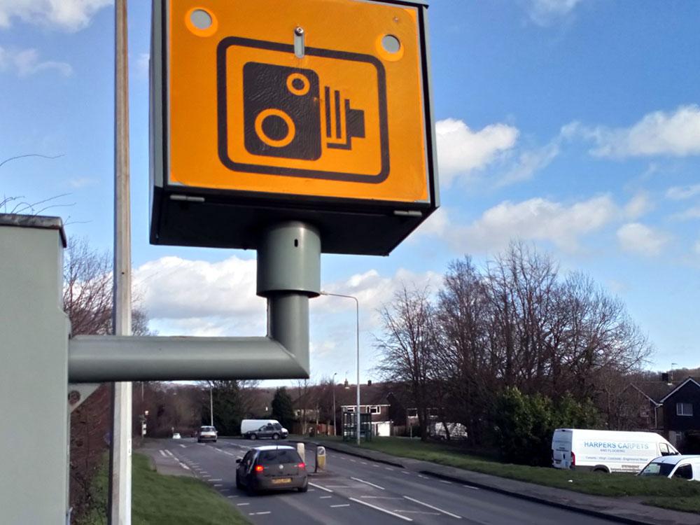 Speed camera on A26 Eridge Road in Crowborough