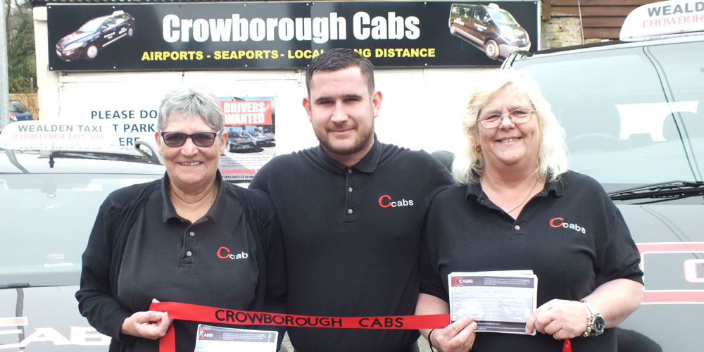 Crowborough Cabs launch of new taxis tracking and text back system