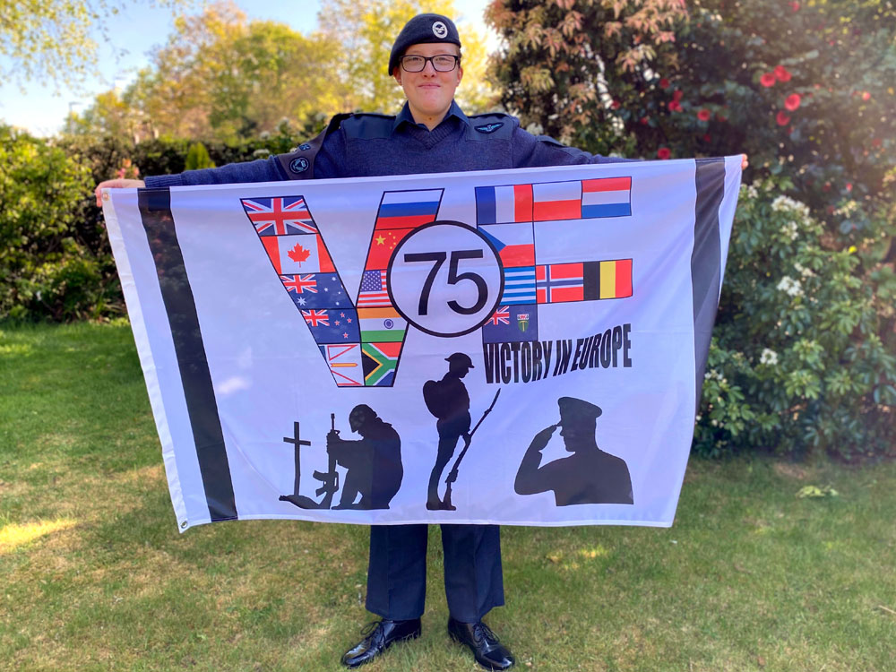 Flag to commemorate VE Day