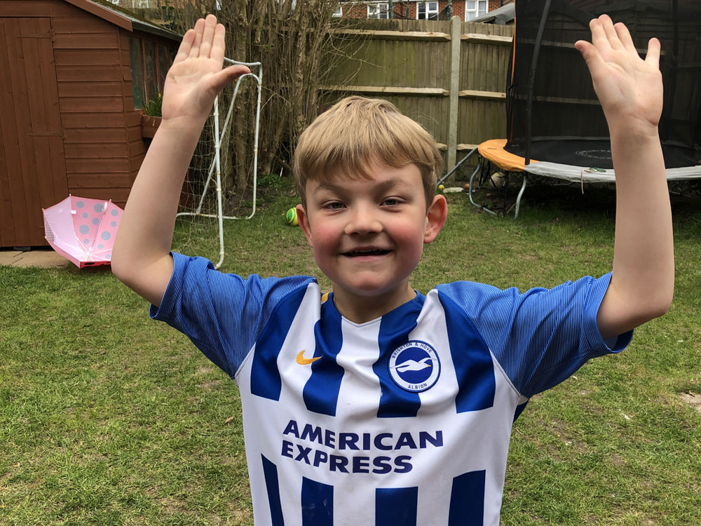 Crowborough youngster supports Sussex charity