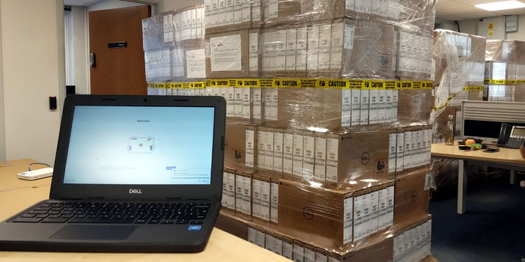 Vulnerable and disadvantaged young people in East Sussex have been given a boost to their learning with the arrival of a shipment of over 1,000 free laptops.