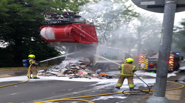 Batteries cause bin lorry fires