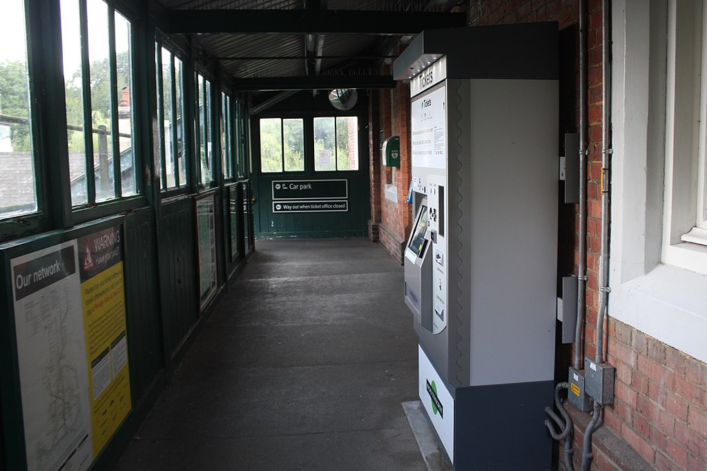 Replacement footbridge at station