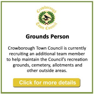 Crowborough Town Council is currently recruiting for a Grounds Person to work with the existing team in maintaining the Council's recreation grounds, cemetery, allotments and other outside areas.