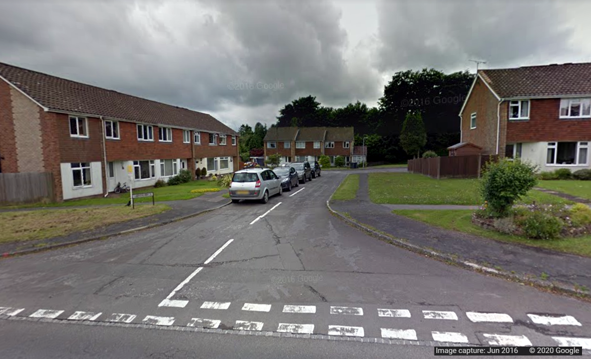 Southridge in Crowborough - Google StreetView