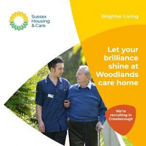 Let your brilliance shine at Woodlands care home.  We're recruiting in Crowborough.
