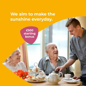 We aim to make the sunshine everyday.  £500 starting bonus.
