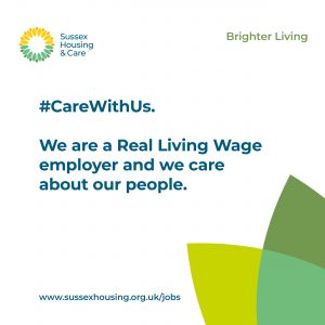 Sussex Housing & Care: We are a Real Living Wage employer and we care about our people.