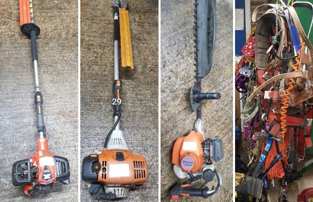 Stolen tools & equipment recovered by Sussex Police
