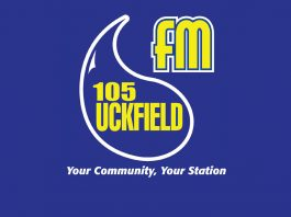 "105 Uckfield fm - slogan ""Your Community, Your Station"""