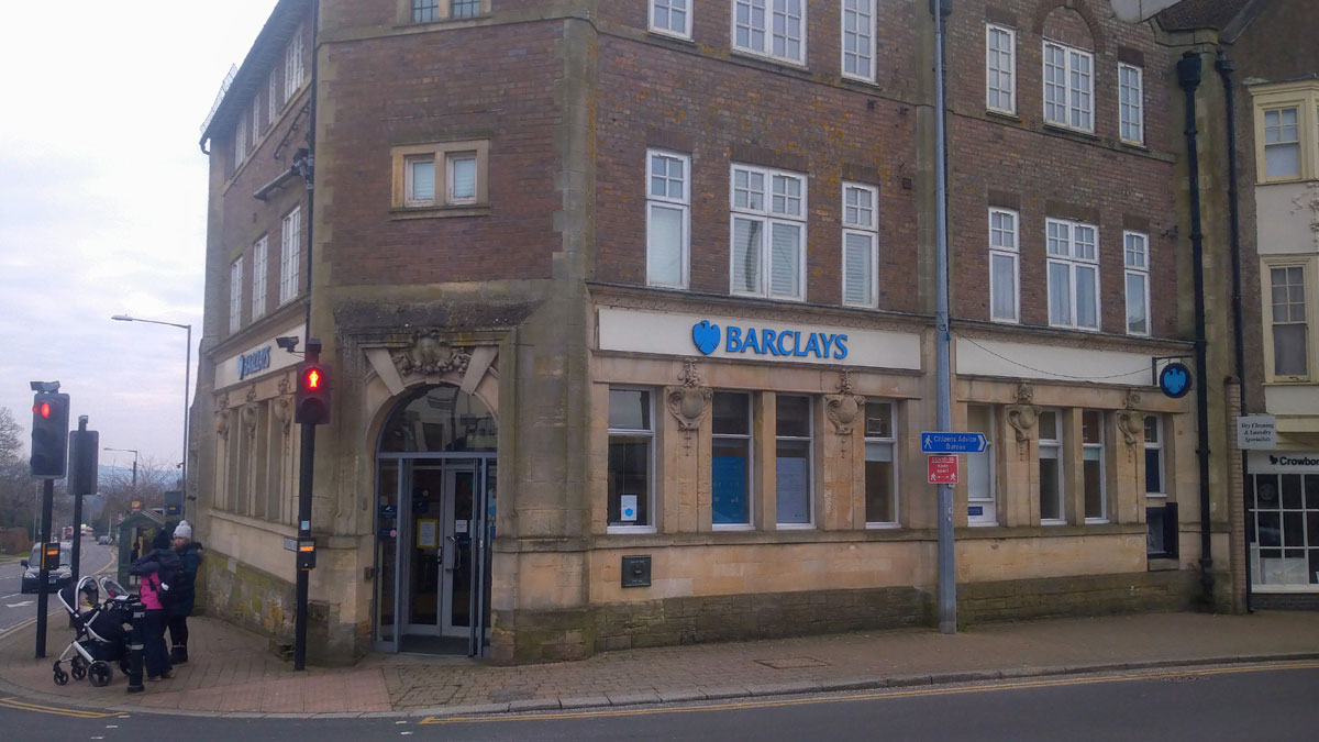 Barclays Bank at 1 High Street Crowborough TN6 2QA