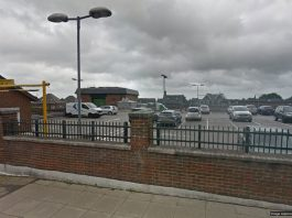 Google Street View of the Croaft Road car park in Crowborough