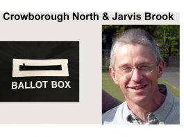 "Colin Stocks is standing in the election for ""Crowborough North & Jarvis Brook"" in the East Sussex County Council elections on 6th May 2021."