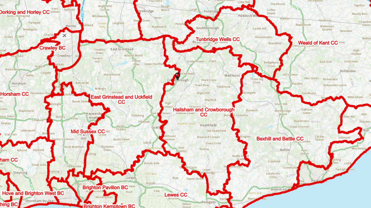 Proposed Boundary Changes Crowborough 2023 Review