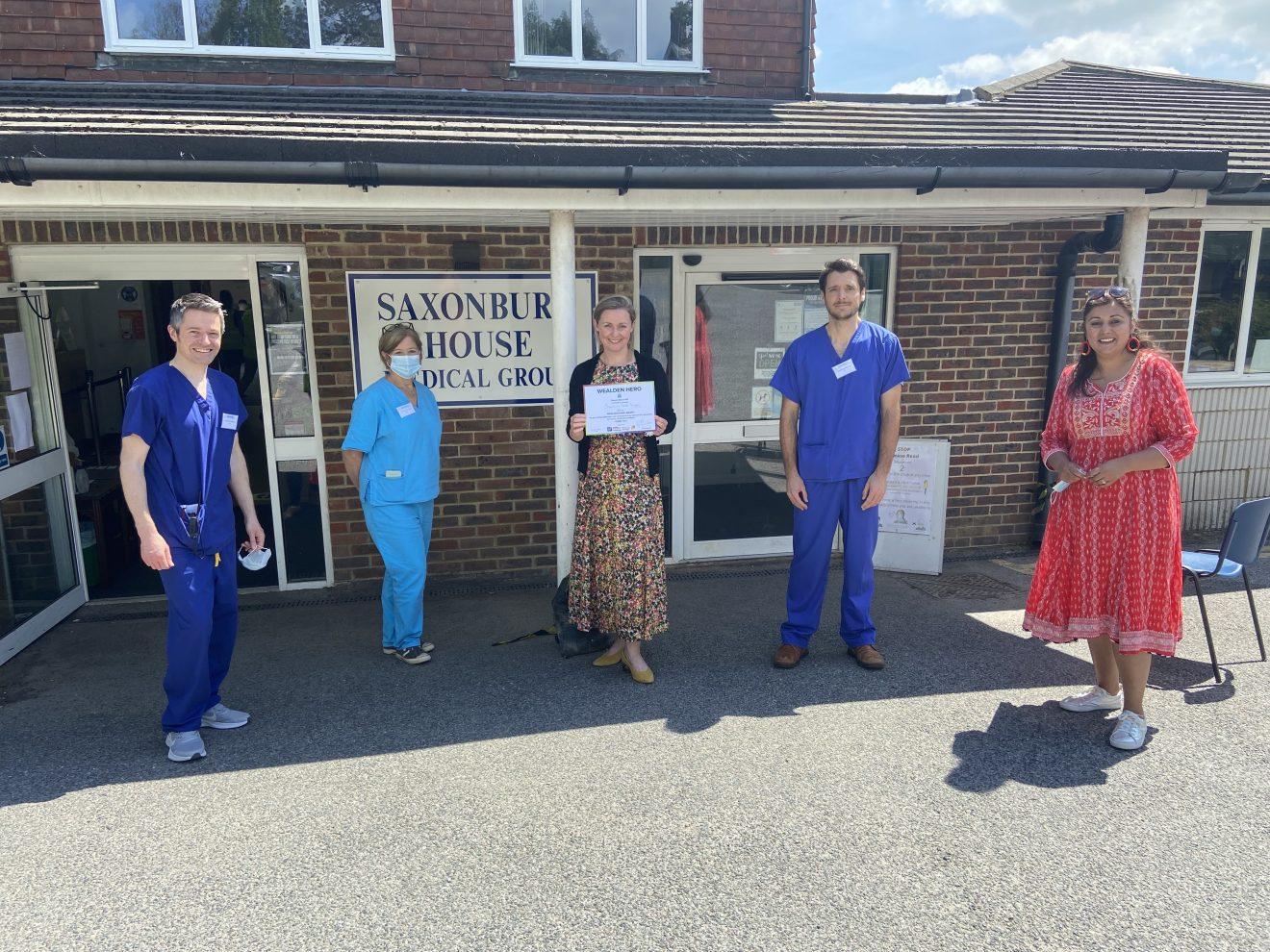 Weaden MP Saxonbury House Heroes Award